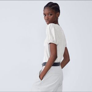 ZARA Soft Touch Balloon Sleeve Shirt